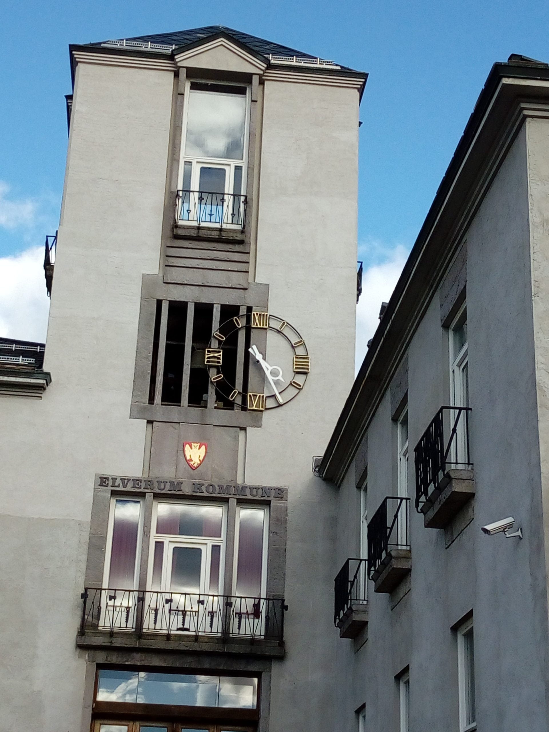 Rådhuset Elverum fasadeur