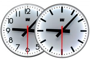 Analoge ur innendørs/utendørs LED med sekund