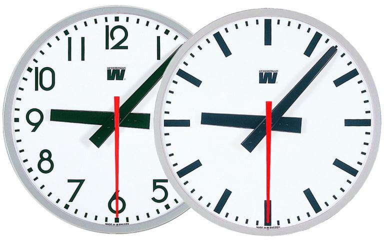 Analoge ur med sekund - Innendørs og utendørs